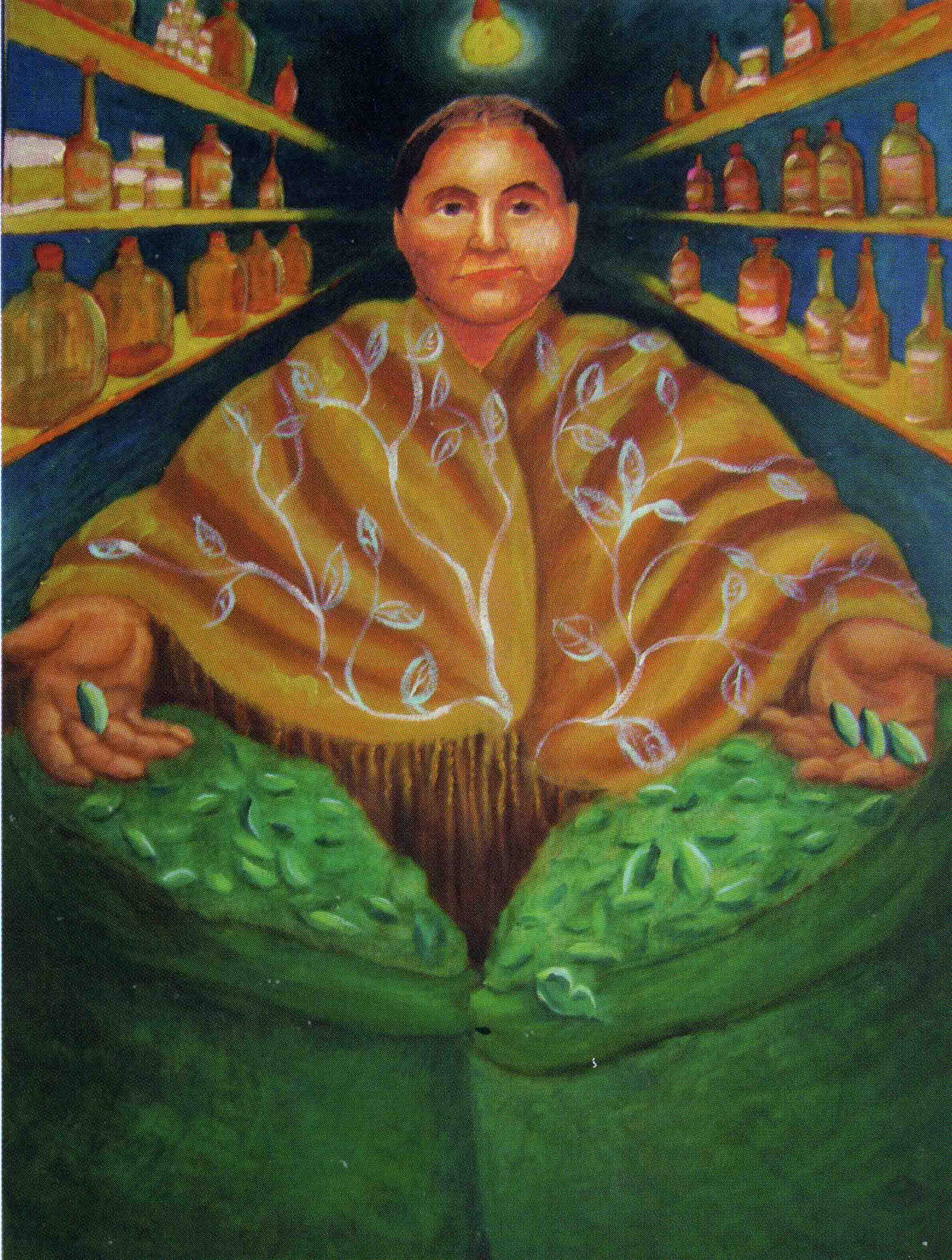 Coca Vendor (oil                                 painting by Lynette Yetter)